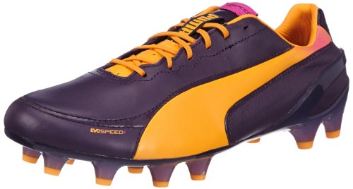 Puma evoSPEED 1.2 L FG 102859, Herren Fußballschuhe, Violett (blackberry cordial-fluo pink 02), EU 46 (UK 11) (US 12)
