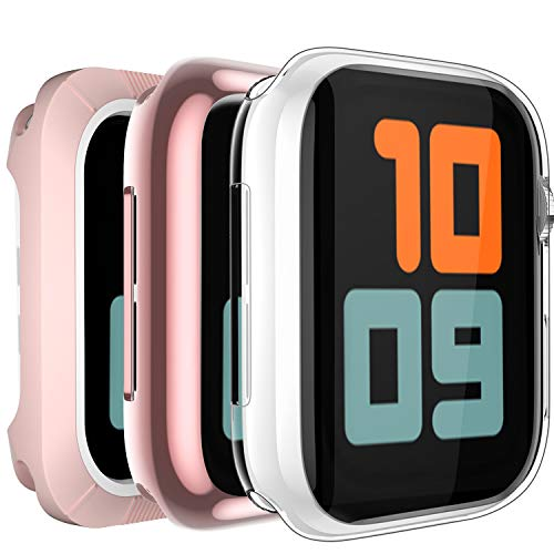 BRG 3 Style Case for Apple Watch Series 5 Screen Protector 40mm 44mm, 1 Clear& 1 Soft TPU All-Around Cover, 1 Shock-Proof Bumper Case, All for Apple iWatch Series 5 Series 4