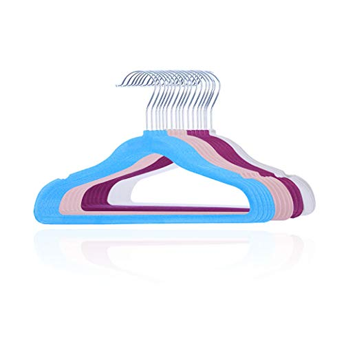 sfesnid Kleiderbügel mit Samtbezug für Kinder Baby, Haken um 360 Grad, 20er-Pack 29.5cm