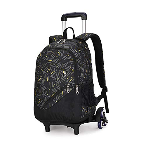 BCXS Kids Trolley Bag Wheeled Laptop Backpack Rucksack, Kids Suitcases on Wheels Backpack,O