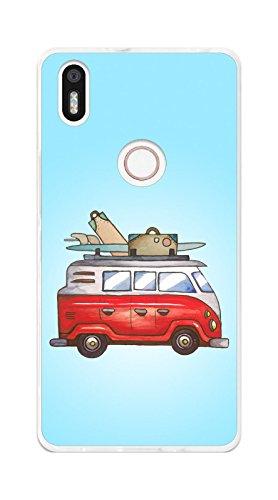 Tumundosmartphone Funda Gel TPU para BQ AQUARIS X5 Plus diseño Furgoneta Dibujos