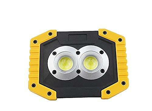 Linterna de camping 20 W lámpara de trabajo LED linterna portátil impermeable 3 modos de emergencia proyector portátil recargable para luz de camping 34 mei (color : sin batería) Skyjie