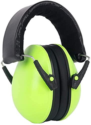 WYQ- Dziecko Dźwiękoszczelne Earmuffs, Childrens Baby Ochrona przed hałasem Stłumić hałas (Color : Green)