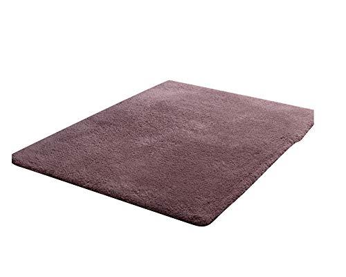 Flauschiger Badezimmerteppich in Shaggy - Sofort Lieferbar In 10 Größen Graues Lila 140 * 200CM