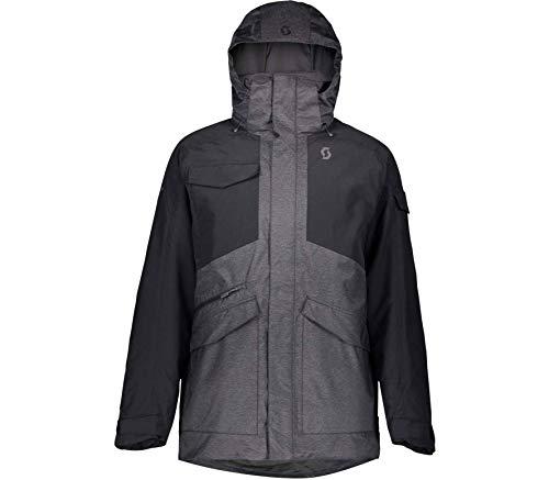 Scott M Ultimate Dryo Jacket Colorblock-Grau-Schwarz, Herren Thinsulate™ Regenjacke, Größe XL - Farbe Dark Grey Melange