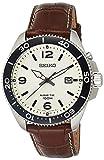 Seiko Reloj Analógico para Hombre de Kinetico con Correa en Cuero SKA749P1