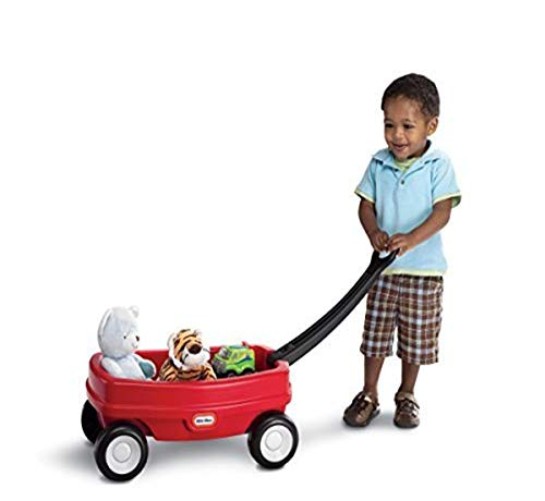 Little Tikes Lil' Wagon – Red And Black, Indoor and Outdoor Play, Easy Assembly, Made Of Tough Plastic Inside and Out, Handle Folds For Easy Storage | Kids 18
