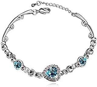 Swarovski Elements 18K White Gold Plated Bracelet Encrusted with Swarovski Crystals SWR-244