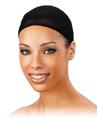 Perruque Casquette - Taille Unique Convient À Tous - Couleur Noire (Paquet de 2) - Fin Bas Tissu - Ultra Extensible - facile à Contrôle Les Cheveux - Par Annie