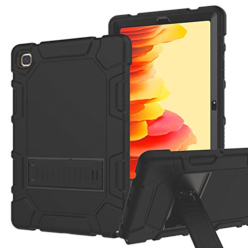 RANTICE Case for Samsung Galaxy Tab A7 10.4 Inch 2020, Hybrid Shockproof Rugged Drop Protection Cover with Kickstand for Samsung Galaxy Tab A7 10.4 Inch Model SM-T500/505/507 (Black)