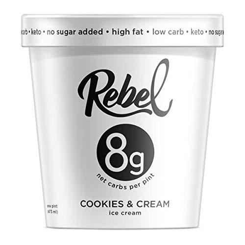 Rebel Ice Cream - Low Carb, Keto - Cookies & Cream (8 Count)