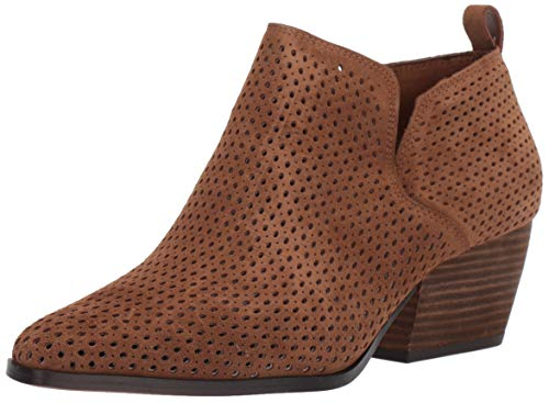 Franco Sarto Women's Dingo Ankle Boot, Brown Suede, 10.5 M US