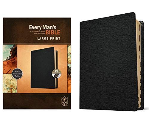 Compare Textbook Prices for Every Man's Bible NLT, Large Print Genuine Leather, Black, Indexed Indexed, Large Print Edition ISBN 0031809022658 by Arterburn, Stephen,Merrill, Dean