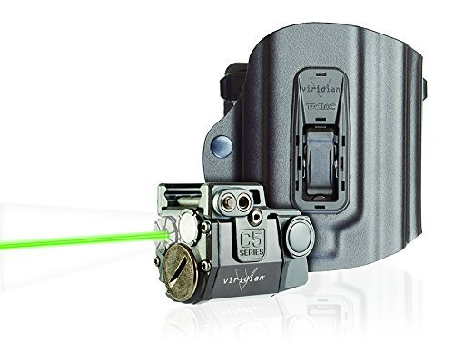 Viridian C5L Universal Green Laser Sight and Tac Light for Sub-Compact Handgun Pistols, with TacLoc Holster ECR Instant On Technology, Springfield XD/XDm