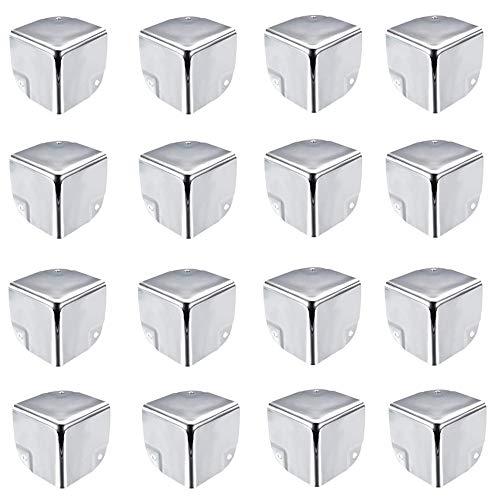 ALUYF Esquinas de protección para cajas y muebles Protector de esquina para caja de herramientas Se utiliza para portaequipajes caja de vuelo caja de aluminio esquina de la carretilla 4 * 4 cm (plata)