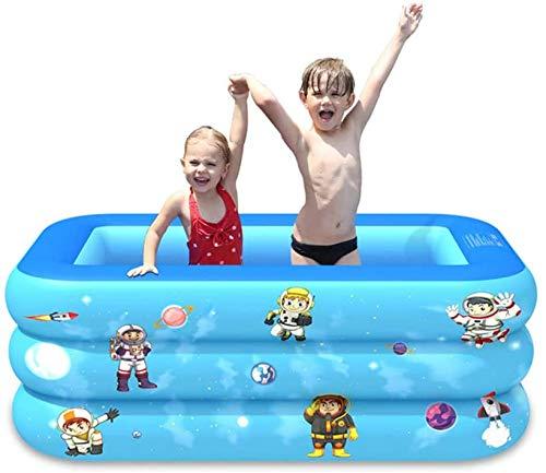 SHY Piscina Inflable para niños, Piscina Familiar, Centro de natación Inflable, salón Familiar, para jardín y Exterior 150 * 110 * 50 cm (420 L)