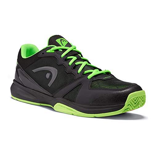 Head Revolt Indoor Zapatillas de Tenis, Adultos Unisex, Raven/Neon Verde, 43 EU