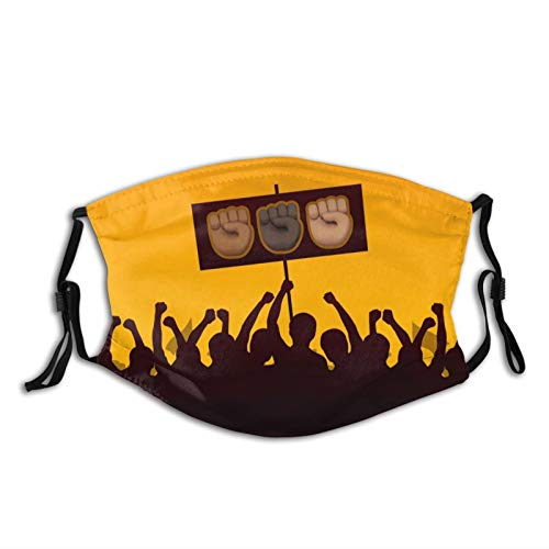 Face Bandanas,Nose Shield With Filter,Men Women Facial Decorations,Mouth Scarf,Face Scarf,Adjustable Mouth Balaclava Emojis Of #Blacklivesmatter