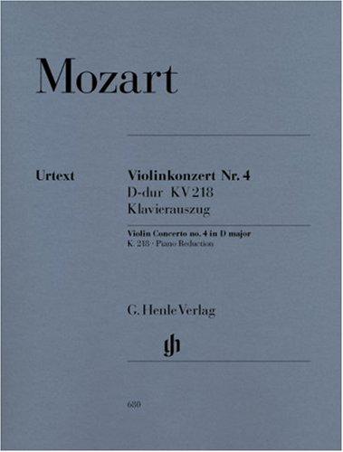 Price comparison product image CONCERTO VIOLON K218 RE MAJ. --- VIOLON ET PIANO