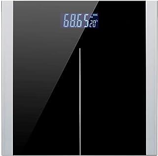 BANANAJOY Electronic Scales, USB de carga de precisión electrónica de la escala Báscula pesa la escala de Salud del hogar Peso Corporal Metro, ultra delgado de lectura fácil vidrio templado, Paso-On T