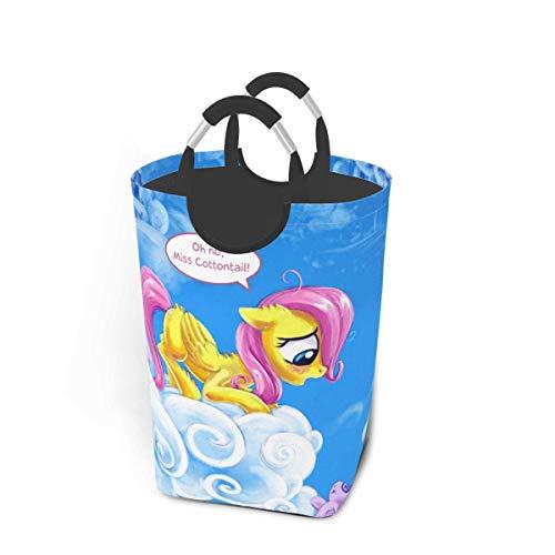 xinping My Little PonyLaundry cesta cesta cesta de ropa sucia, impermeable, para baño, dormitorio, armario, colección de juguetes organizador de almacenamiento