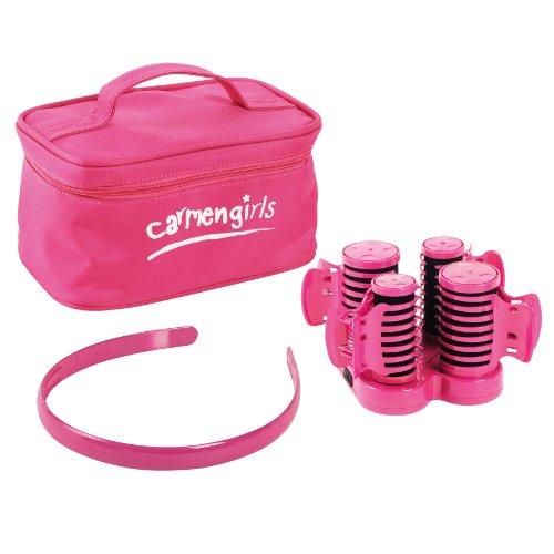 Carmen Girls Heated Hair Roller Set - Pink