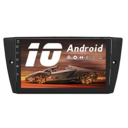 AWESAFE Android 10.0 [2GB+32GB] Radio Coche con Pantalla Táctil 9 Pulgadas para BMW Serie 3 E90 E91 E92 E93 , Autoradio con Bluetooth GPS FM RDS USB RCA, Admite Mandos Volante y Aparcamiento