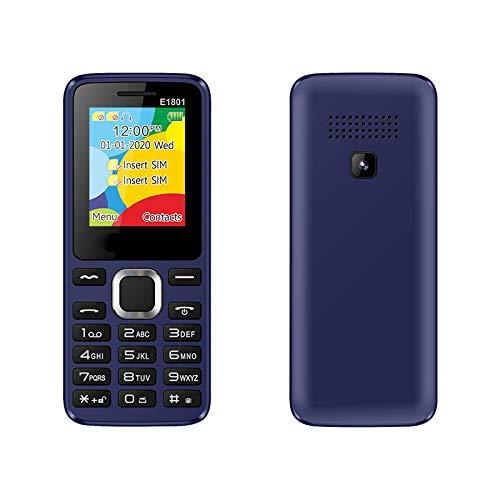 Teléfono móvil con botón grande para personas mayores, teléfono móvil para personas mayores desbloqueado, altavoz de volumen alto, botón grande, números parlantes, doble SIM, radio FM y función de li