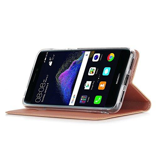 IVSO Huawei P8 Lite 2017 Cover Slim Flip Cover Custodia per Huawei P8 Lite 2017 Smartphone