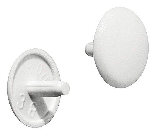 Gedotec H1123 Meubel-afdekkappen voor schroefgat voor boorgat | Meubelkappen voor boring in het hoofd, diameter 12 x 2,5 mm, 20 stuks, ronde schroefdopjes
