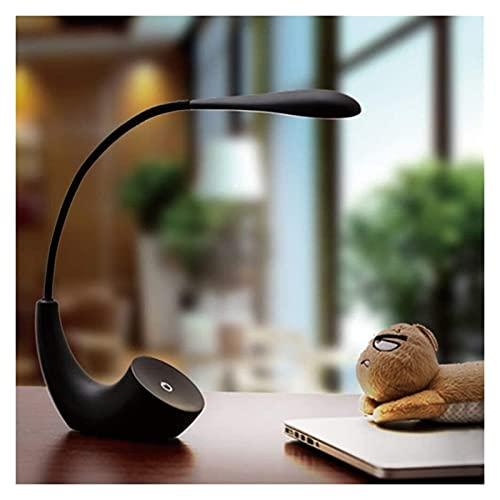 Ckssyao Lámpara de Mesa Escritorio Negro lámpara de Escritorio Peque?a lámpara de Escritorio con atenuación táctil Regalo Creativo protección Ocular portátil lámpara de Escritorio para Estudiantes