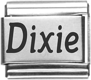 Dixie Laser Name Italian Charm Link