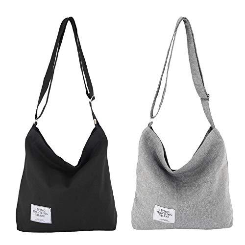 STEAMEDBUN Crossbody Hobo Bags for Women Canvas Tote Satchel Purse...