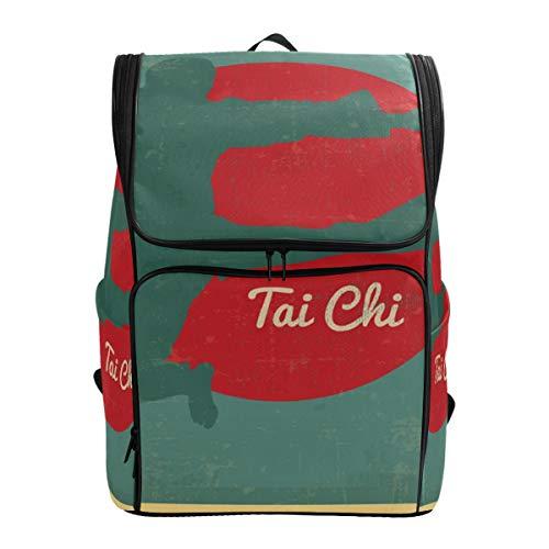 Fantazio DD Tai Chi Sac à Dos pour Ordinateur Portable, Voyage, randonnée, Camping, décontracté, Grand Sac à Dos pour l'école