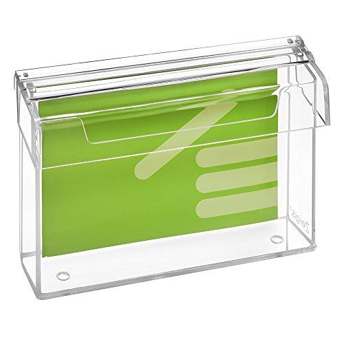 DIN A5 Prospektbox/Prospekthalter/Flyerhalter im Querformat, wetterfest, für Außen, mit Deckel, aus glasklarem Acrylglas - Zeigis®