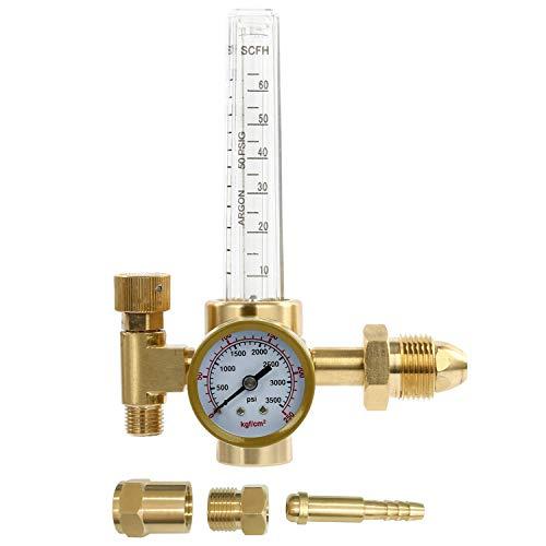 YaeTek Argon CO2 Mig Tig Flow meter Welding Weld Regulator Gauge Gas Welder CGA-580