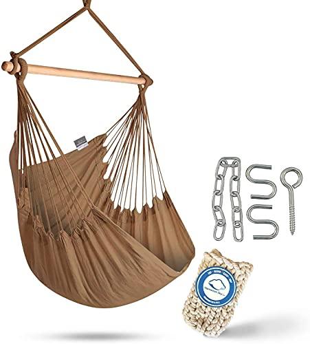 XXL Hammock Chair Swing by Hammock Sky - for Patio, Porch, Bedroom, Backyard, Indoor or Outdoor -...