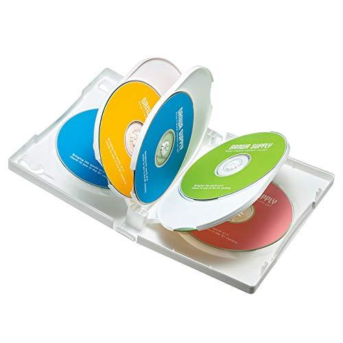 サンワサプライ DVDトールケース(8枚収納) ホワイト 3枚セット DVD-TW8-03W