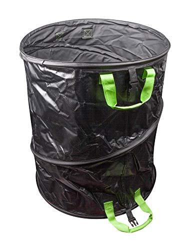 Windhager PopUp Bag Long-Life, Springsack, Gartensack, Laubsack selbstaufstellend, Gartenabfallsack, Grünschnitt-Sack, Laubkorb, 170L, 300 g/m², Ø 56 x 70cm, 07476, schwarz