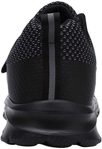 Zapatillas de Seguridad Hombre,LM180121 SBP Zapatos de Trabajo Mujer con Punta de Acero Ultra Liviano Reflectivo Transpirable 43.5 EU,Triple Negro