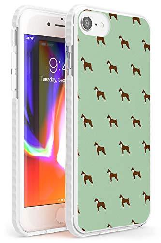 Hülle Warehouse Boxer-H& Muster Impact Hülle kompatibel mit iPhone 7 Plus TPU Schutz Light Phone Tasche mit Haustier Hündchen Rasse Tier Design