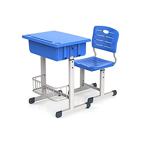 BDESIGN Ajustable Kids Study Tabla y silla Conjunto de niños combinados mesa de estudio y silla Conjunto con cajón para estudiantes de escuela de 3 a 18 años de edad (Color: C) ZDWN ( Color : E )