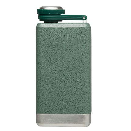 LTJX The Legendary Classic Vacuum Easy-Fill Wide Mouth Flask .8oz Stainless Steel Leakproof Packable Never-Lose Cap with Wide-Mouth Opening Naturally,Verde