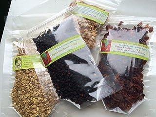 Kombucha Flavor Sampler: Zinger ~ 4 Flavors ~ DRIED HERBS ~ Ginger, Rosehips , Elder Berries, Lemon Peel ~ Ravenz Roost Herbs with Flavoring Info Card