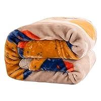 毛布・ブランケット 二重層コンポジットブランケット、柔らかく肌にやさしい、厚いフリースの毛布、小屋には簡単ではない、旅行毛布、ベッドシーツ (Size : 76.77*90.55in)
