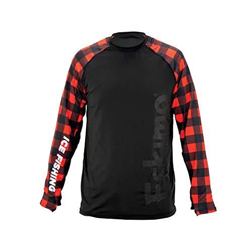 Eskimo Damen Performance Long Sleeve Tee T-Shirt, Black/Plaid, Klein
