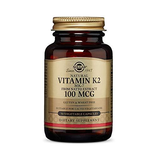 Solgar Vitamina K2 (MK-7) Natural 100 µg Cápsulas vegetales - Envase de 50