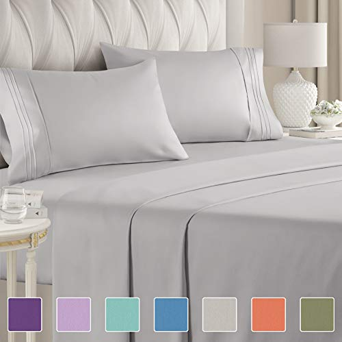 Full Size Sheet Set - 4 Piece Set - Hotel Luxury Bed Sheets...
