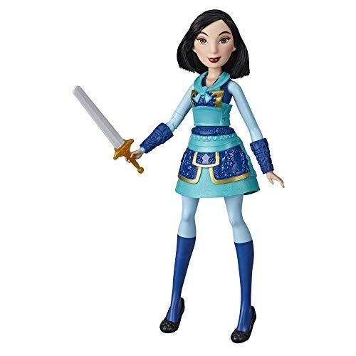 Hasbro Disney Prinzessinnen Tapfere Kriegerin Mulan mit Schwert-Action, Mulan Puppe im Krieger-Outfit, Spielzeug für Kinder E8628