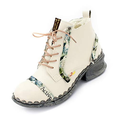 TMA Damen Winter Boots 5355 Cremeweiß 40